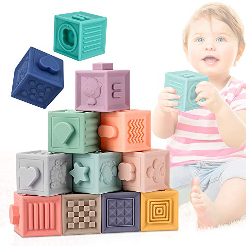 E-More Baby Spielzeug, Weiche Baby Bausteine für Kleinkinder, Spielzeug für Kinder Pädagogisches...