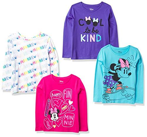 Spotted Zebra Disney Star Wars Marvel Frozen Princess Long-Sleeve Fashion-t-Shirts, 4er-Pack Minnie Kind, 3...