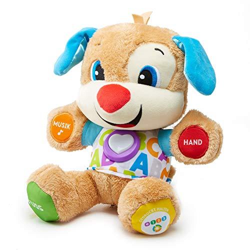 Fisher-Price FPM50 - Lernspaß Hündchen Baby Spielzeug und Plüschtier, Lernspielzeug mit Liedern und...