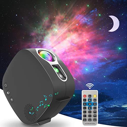 LED Sternenhimmel Projektor mit Bluetooth-Lautsprecher, ZOTO 3D Galaxy Sternenlicht Projektor Lamp mit 360°...