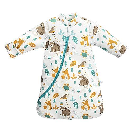 Baby Winter schlafsack Kinder schlafsack 3.5 Tog Schlafsaecke aus Bio Baumwolle Verschiedene Groessen von...
