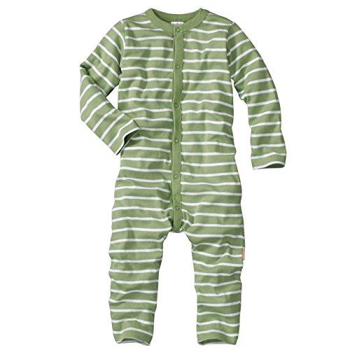 wellyou Baby und Kinder Schlafanzug/Pyjama aus Baumwolle in grün weiß, Grün, 92 - 98