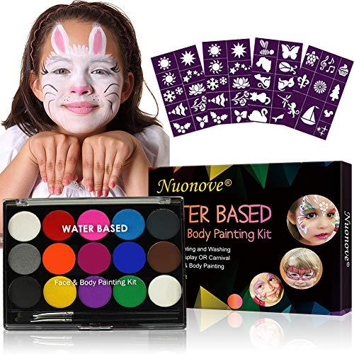 Kinderschminke, Körperfarben Set, Schminkfarben Kinder, Gesichtsfarben Kinder, Weihnachtsdekoration, 2...