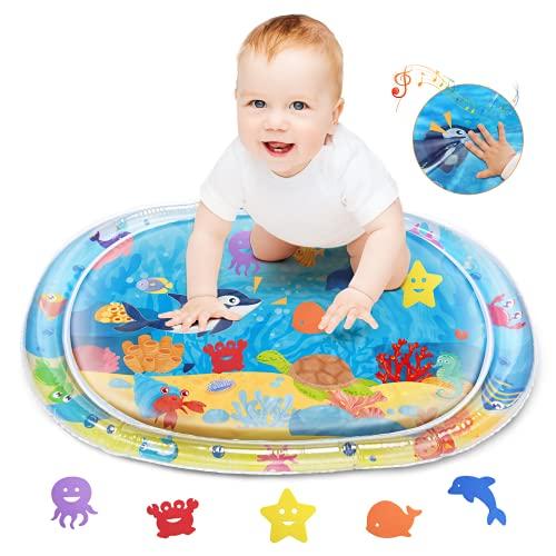 Lupantte Wassermatte Baby, PVC Wasserspielmatte Baby, Spiel Wassermatte Flattern Macht Lustige Geräusche,...