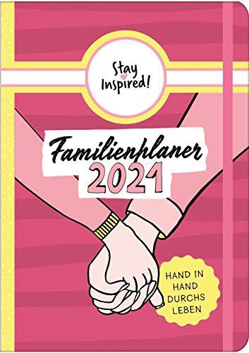 Familienplaner 2021 Hardcover mit 5 Spalten für bis zu 5 Personen in DIN A5. Familienkalender 2021 mit...