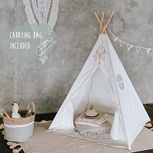 Tipi Dreamin Kinderzelt für Jungen und Mädchen - Tolles Indianer Tipi Zelt für Kinder aus Baumwolle und...