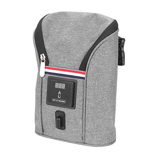 Babyflaschenwärmer Auto, SUNJULY Thermotasche Kühltasche für Babyflaschen, USB Out Portable Heizung...