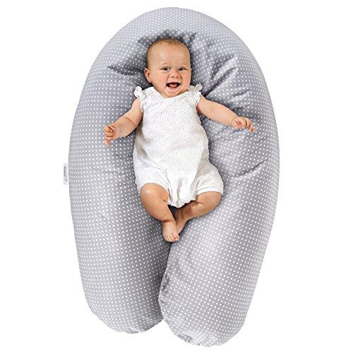 Theraline Stillkissen & Lagerungskissen - Dodo Pillow Premium - 180 cm inkl. Bezug aus Baumwolle - Füllung:...
