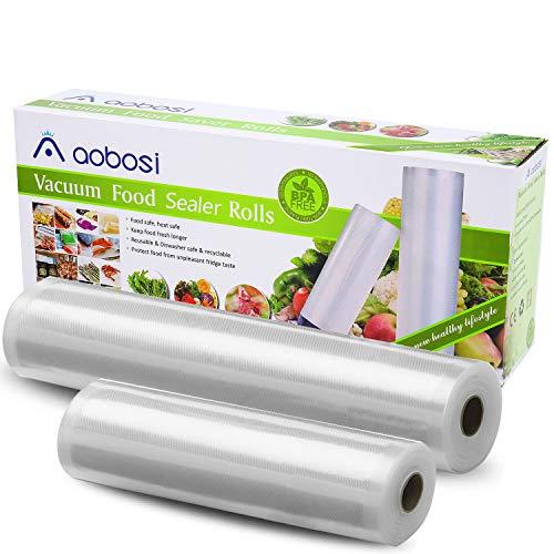 Aobosi Vakuumrollen Vakuumierfolie Rolle für alle Folienschweißgeräte,2 Rollen 28x600cm&20x600cm-Premium...