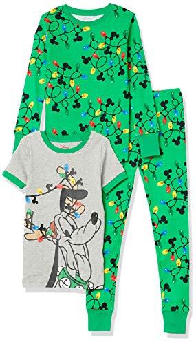 Spotted Zebra Disney Star Wars Marvel Snug-Fit Cotton Pajamas Sleepwear Pajama-Sets, Pluto Urlaubslichter, 4-5...