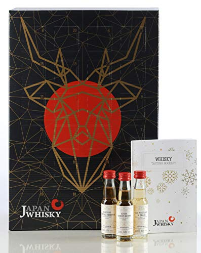 Whisky Adventskalender Probierset (24 x 20ml) * Tasting Set mit Whiskey aus 8 Ländern *