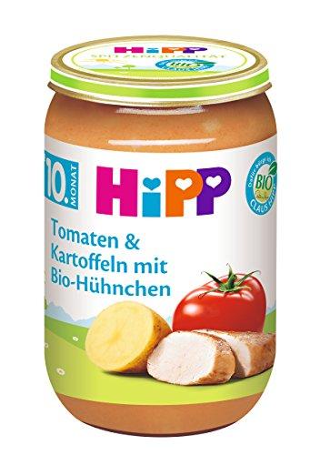 HiPP Tomaten und Kartoffeln mit Bio-Hühnchen, 6er Pack (6 x 220 g)