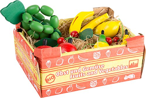 small foot - Kiste mit Obst, Früchten aus Holz