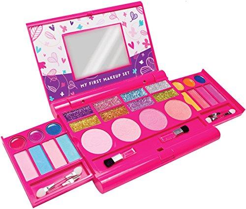 12.Mein erstes Makeup-Set, Mädchen Makeup-Set, ausklappbare Makeup-Palette mit Spiegel und sicherem...