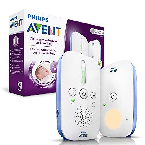 Philips AVENT: Audio-Babyphone SCD501/00 mit DECT-Technologie, Nachtlicht, Geräuschpegelanzeige,