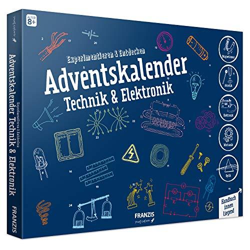 FRANZIS Adventskalender Technik & Elektronik | 24 spannende Versuche zum Experimentieren & Entdecken | Auch...
