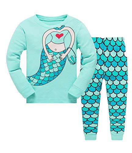 Qzrnly Mädchen Schlafanzug Giraffe Baumwolle Kinder Langarm Pyjama 98 104 110 116 122 128 134 140...