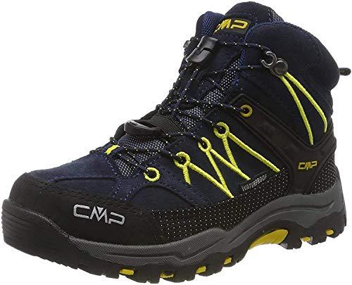CMP Unisex-Kinder Kids Rigel Mid Shoe Wp Trekking- & Wanderstiefel, Blau (B.Blue-Zafferano 11nd), 30 EU