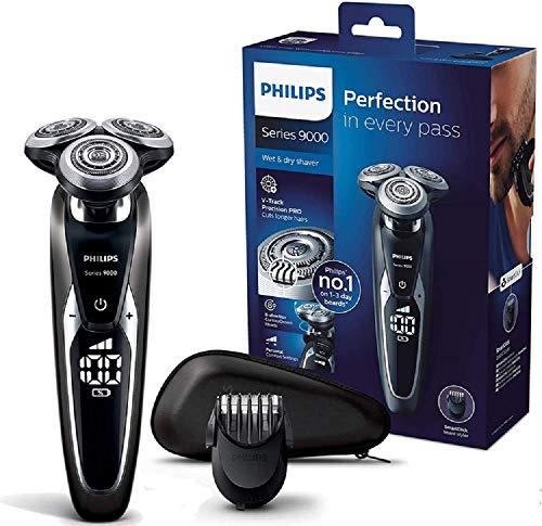 Philips Series 9000 Elektrischer Nass- und Trockenrasierer S9721/41, Gründliche & sanfte Rasur, ideal für...