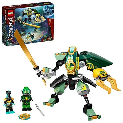 LEGO 71750 NINJAGO Lloyds Hydro-Mech, Unterwasser Set, Spielzeug für Kinder ab 7 Jahre mit 2 Ninja Mini...