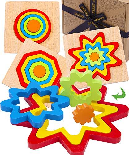 Jaques of London Montessori-Spielzeuge | Luxus von 3 Puzzles in Regenbogenform | Puzzles für Kinder |...