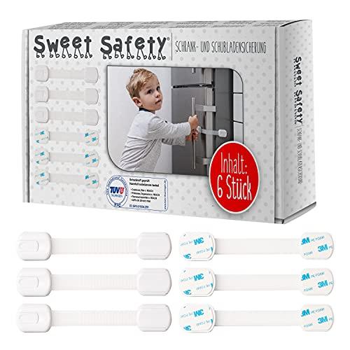 Sweet Safety® Baby Schubladensicherungen – Bombenfest – TÜV Schadstoff geprüft – Kindersicherung zum...