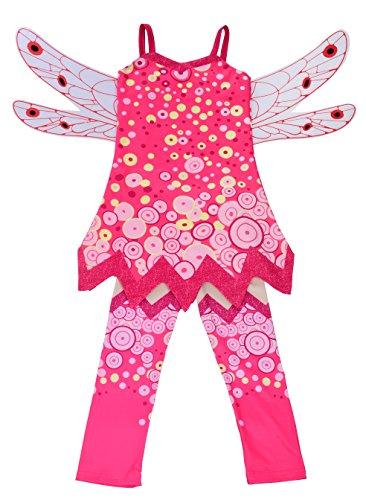 Lito Angels Mädchen Kostüm Verrücktes Kleid Feenhaftes Kleid Festkleid Weihnachten Halloween Party...