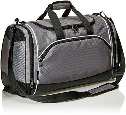 Amazon Basics - Sporttasche, Größe M, Grau
