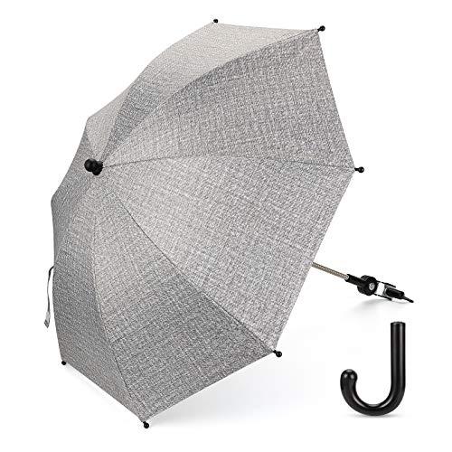 Luchild Universal Sonnenschirm Regenschirm für Kinderwagen & Buggy UV Schutz 50+ Babywagen Schirm mit...