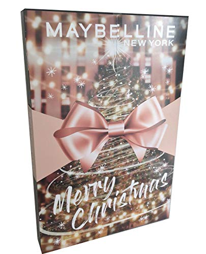Maybelline Adventskalender 2020 Makeup Beauty Kosmetik goldene Schleife