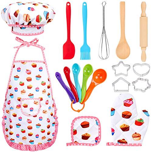 Tacobear 18 Stücke Kinderküche Zubehör Kinder Kochen Spielen Küchenspielzeug Kinderküche Kochgeschirr...