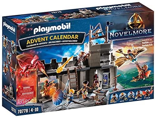 PLAYMOBIL Adventskalender 70778 Novelmore 'Darios Werkstatt' mit zahlreichen Figuren und Zubehörteilen hinter...