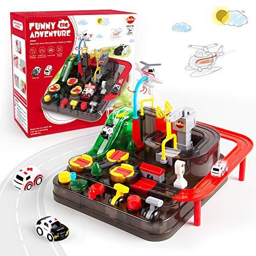 VATOS Track Cars Spielzeug für Kinder Jungen Mädchen Auto Spielzeug ab 3 4 5 6 7 8 Jahre Spielzeug Abenteuer...