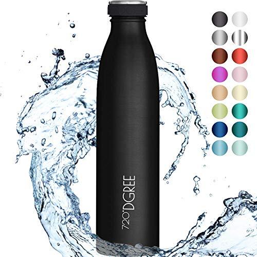"""720°DGREE Edelstahl Trinkflasche """"milkyBottle"""" - 1L - BPA-Frei, Auslaufsicher, Kohlensäure geeignet -..."""