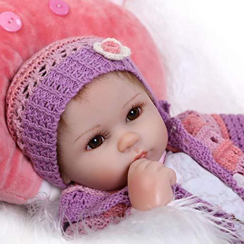 iCradle Schöne 17' Wahres Leben Reborn Baby Dolls Weiches Silikon Lebensechte Puppen Babys Handgemachtes...