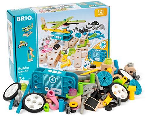 BRIO 34591 - Builder Motor-Konstruktionsset, 120tlg.