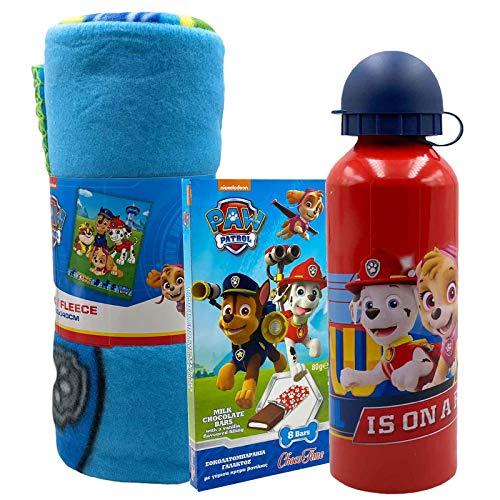 JT Paw Patrol Süßes Geschenkset mit Kuscheldecke und Trinkflasche