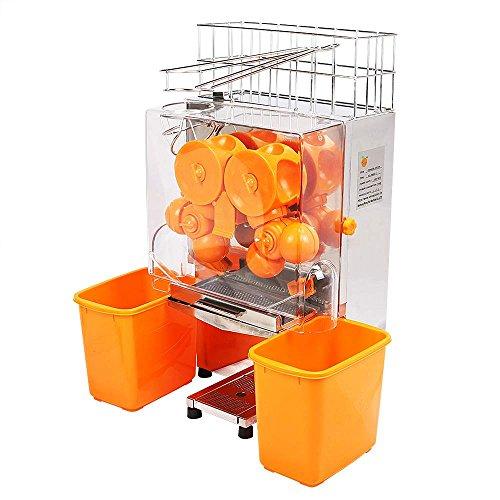 Ambesten Orangensaftpresse Orangenpresse Saftpresse Orange Juicer Standgerät aus Edelstahl und stabilem...