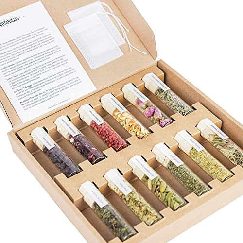 12 frische Gin-Botanicals | DO YOUR GIN bekannt aus Sat1, Vogue, Stern | hochwertige Gewürz-Gläser |...