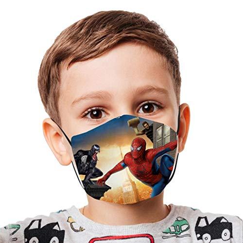 Wiederverwendbarer, winddichter, Anti-Staub-Mundschutz für Mädchen und Jungen, Motiv: schwarzer Spiderman...