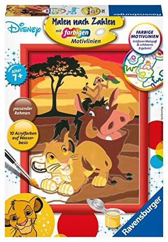 Ravensburger 27786 Der König der Löwen Malen nach Zahlen, Multicolor