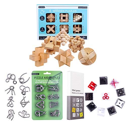 BOXX Adventskalender 2020 Knobelspiele Metall 24 Stück Knobelspiele Set Knobeleien Set Rätsel Spielzeug...
