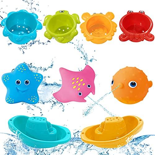 TaimeiMao 9 Stück Baby Badespielzeug,Badewannenspielzeug Kinder,Baby Bade...