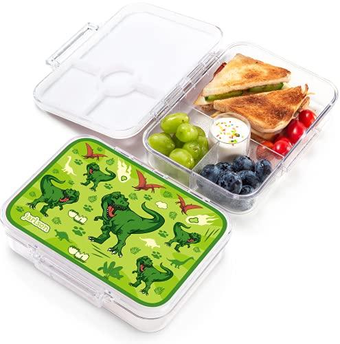 JARLSON® Brotdose für Kinder mit 4 Fächern - TÜV geprüft - Lunchbox aus Tritan - Bento Box auslaufsicher...