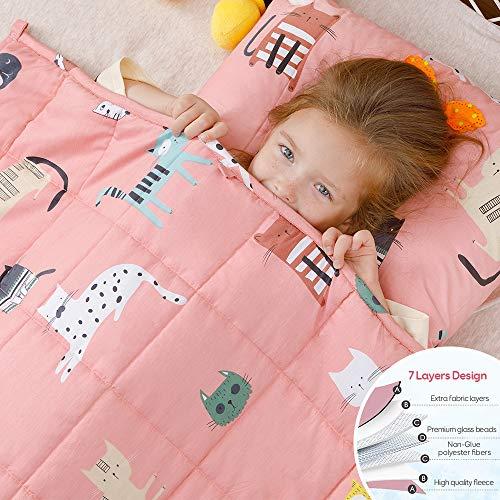 Anjee Kinder-Gewichtsdecke, 100% natürliche Baumwolle, Schwere Decke für Kinder und Jugendliche, 3kg...
