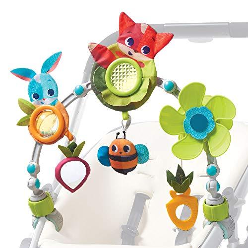 Tiny Love Sunny Stroll, Flexibler Spielbogen für den Kinderwagen mit 6 Spielfiguren, 0M +, Meadow Days...