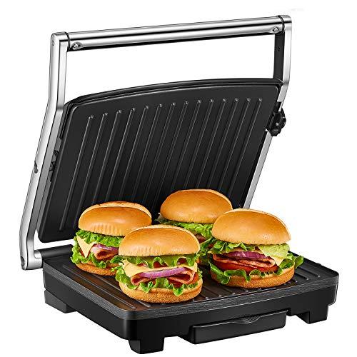 Deik Kontaktgrill, Sandwichmaker, 4-Scheiben Sandwichtoaster, 2000W Sandwich-Maker mit Temperaturregelung, mit...