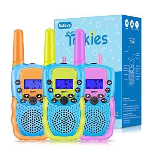Spielzeug für 3-8 Jährige Jungen Mädchen, Selieve 3X Walkie Talkies Kinder Set Funkgeräte 3 km Reichweite...