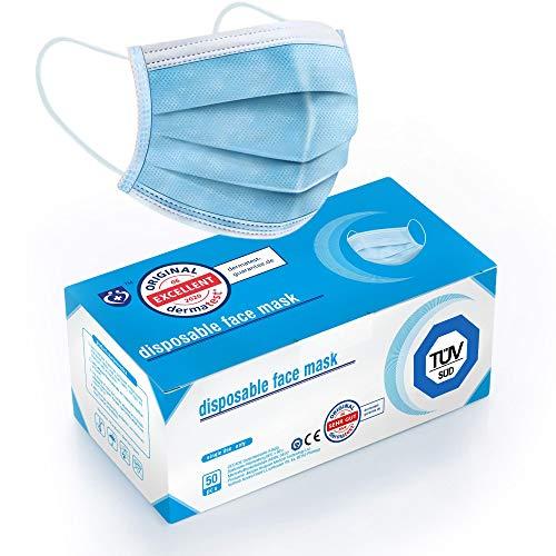 """Test """"SEHR GUT"""" - 50x TÜV zertifizierte Masken Visier Medizinische Mundschutz Maske - TYP II BFE 98%..."""