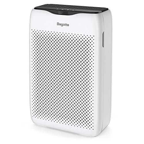 Luftreiniger, Bagotte Luftreiniger mit H13 HEPA Aktivkohlefilter, Luftfilter mit 99,97 % Filterleistung, 3...